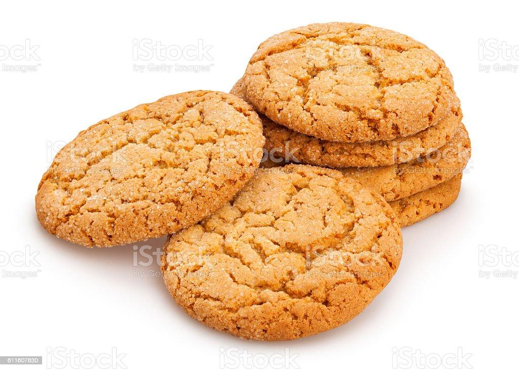 oat cookies stock photo