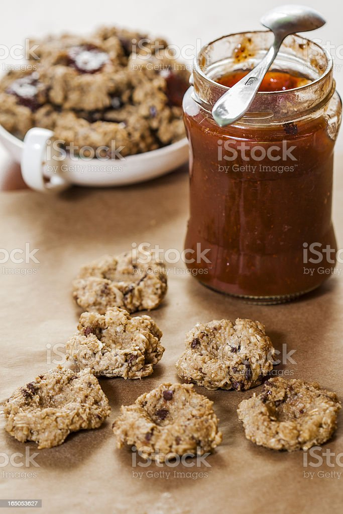 Oat flakes cookies royalty-free stock photo