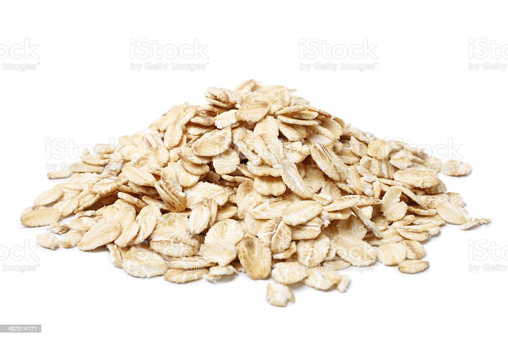 Oat flakes stock photo
