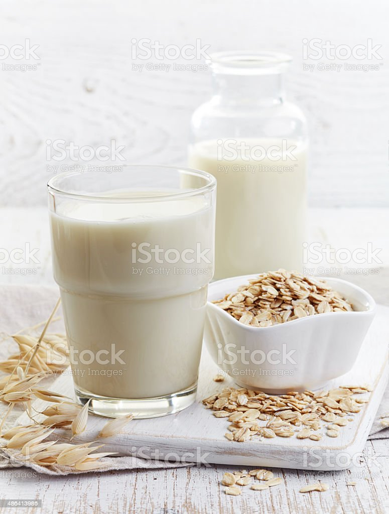 Oat milk stock photo