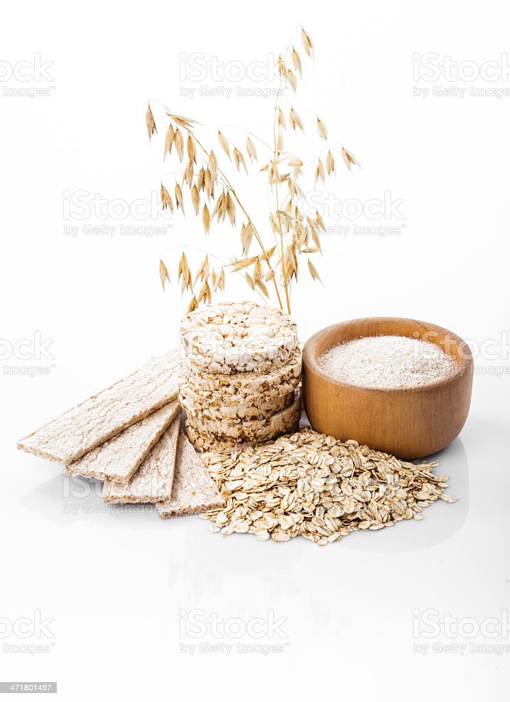 Oat products royalty-free stock photo