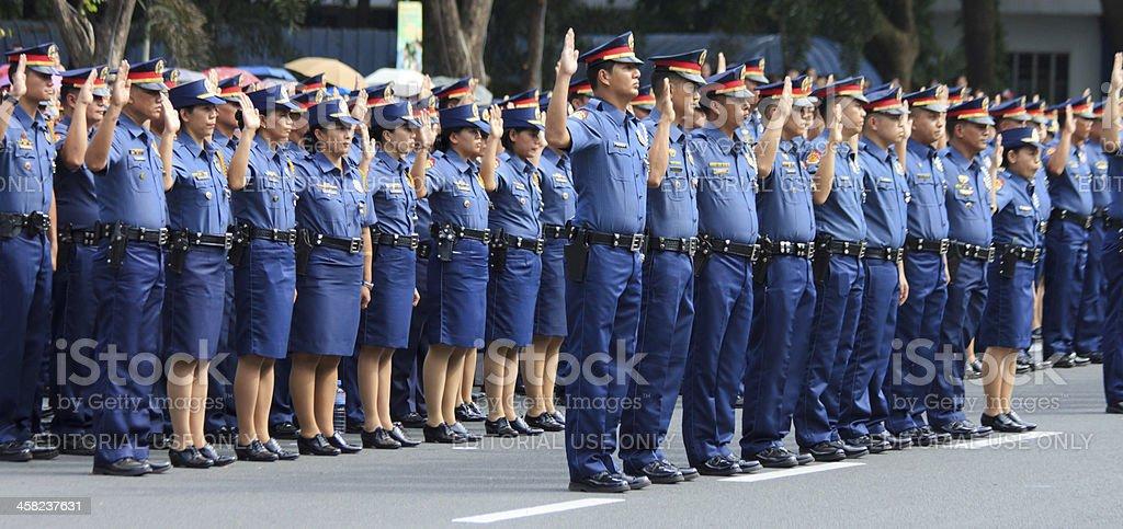 Oath taking of law enforcers stock photo