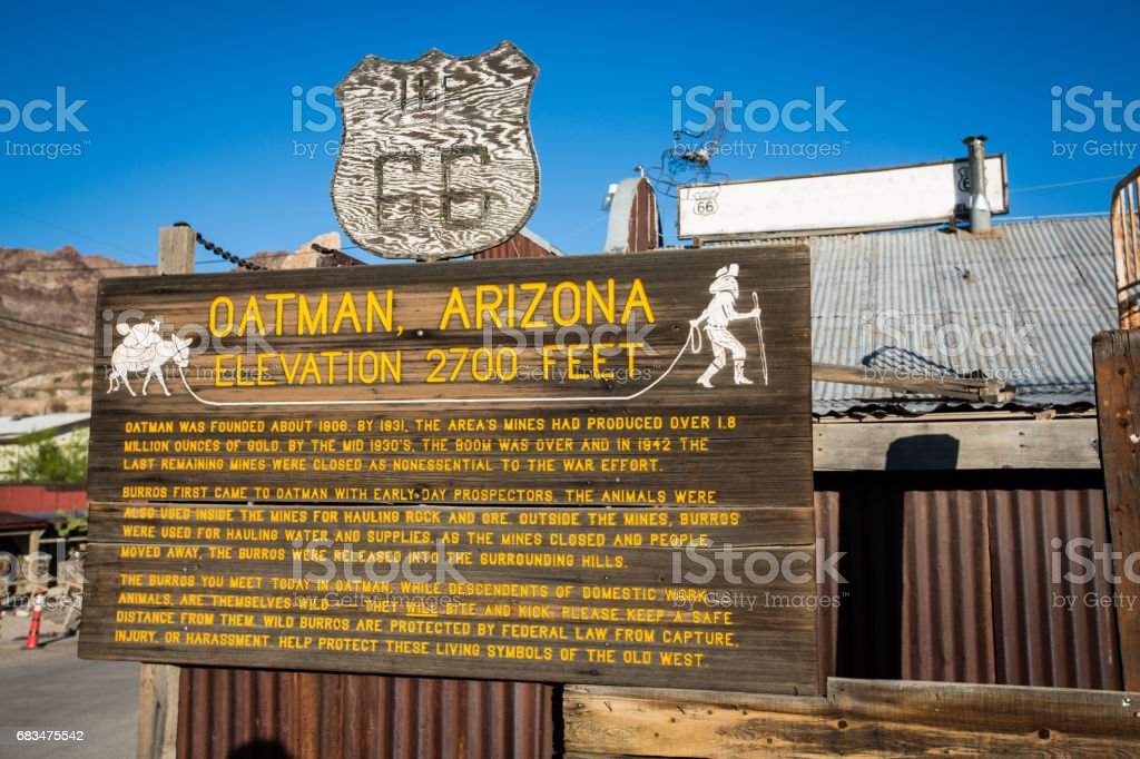Oatman, Arizona stock photo