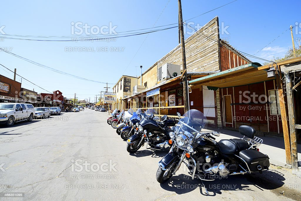 Oatman in Arizona stock photo