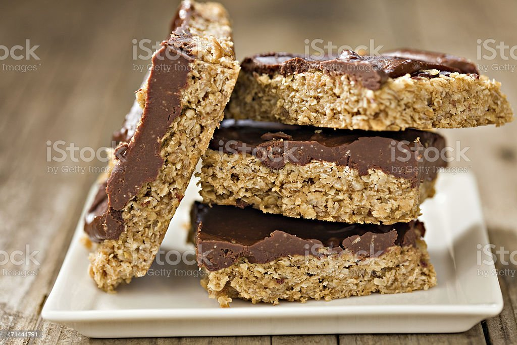 Oatmeal Bars stock photo