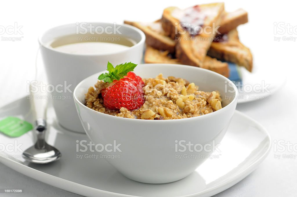 Oatmeal Breakfast royalty-free stock photo