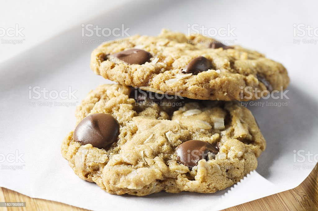 Oatmeal Chocolate Chip Cookies stock photo
