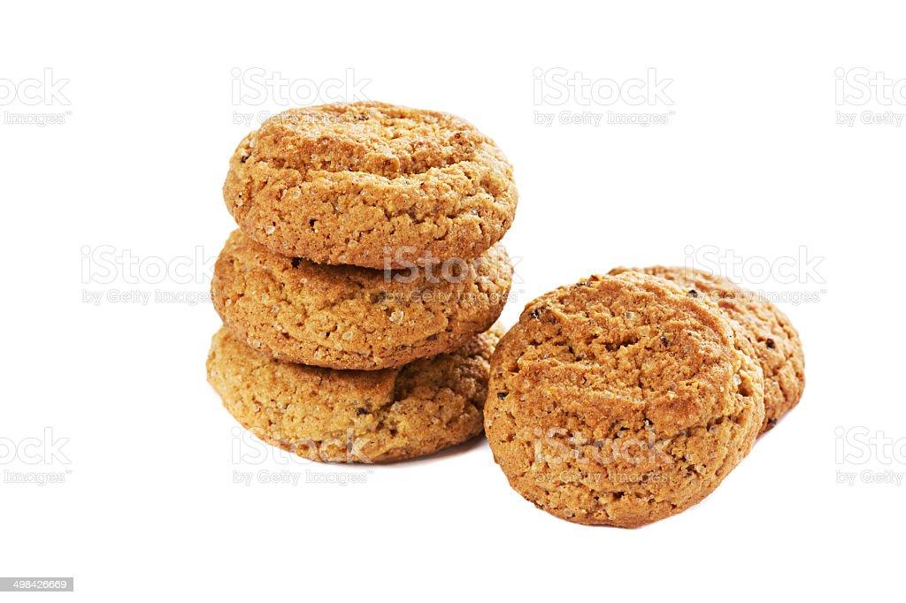 oatmeal cookies isolated stock photo