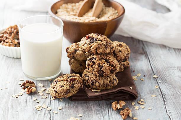haferflocken cookies  - hafer cookies stock-fotos und bilder
