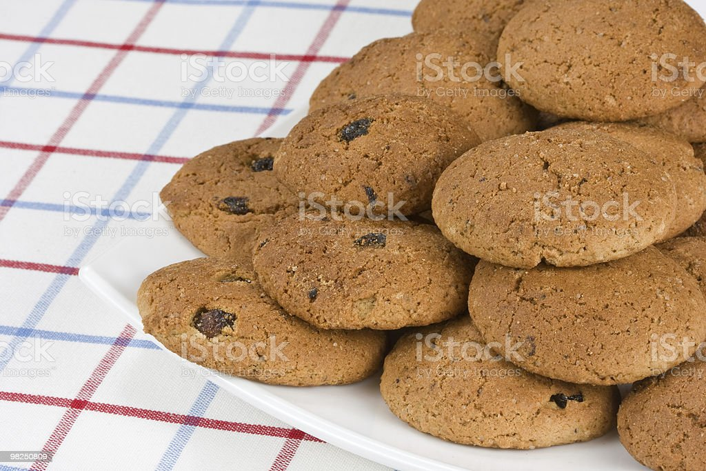 Oatmeal cookies royalty-free stock photo