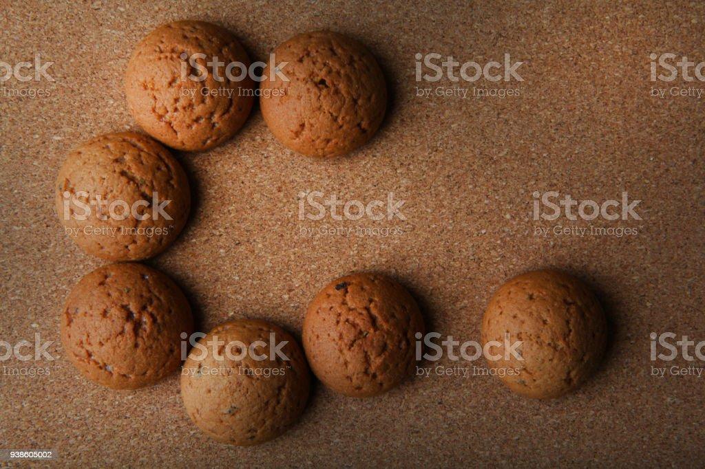 oatmeal cookies studio quality stock photo