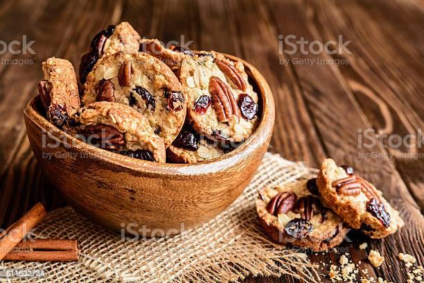 Oatmeal cookies with pecan nuts cranberries and honey picture id611632734?b=1&k=6&m=611632734&s=612x612&h=y7qcmto5pv6zka5y ln1xb bxlifhqulrr70yszurpo=