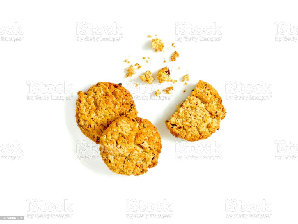 Oatmeal cookies with raisin stock photo
