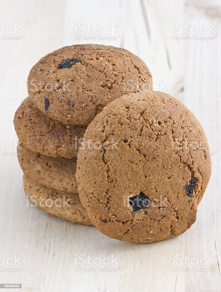 Oatmeal cookies with raisins. royalty-free stock photo