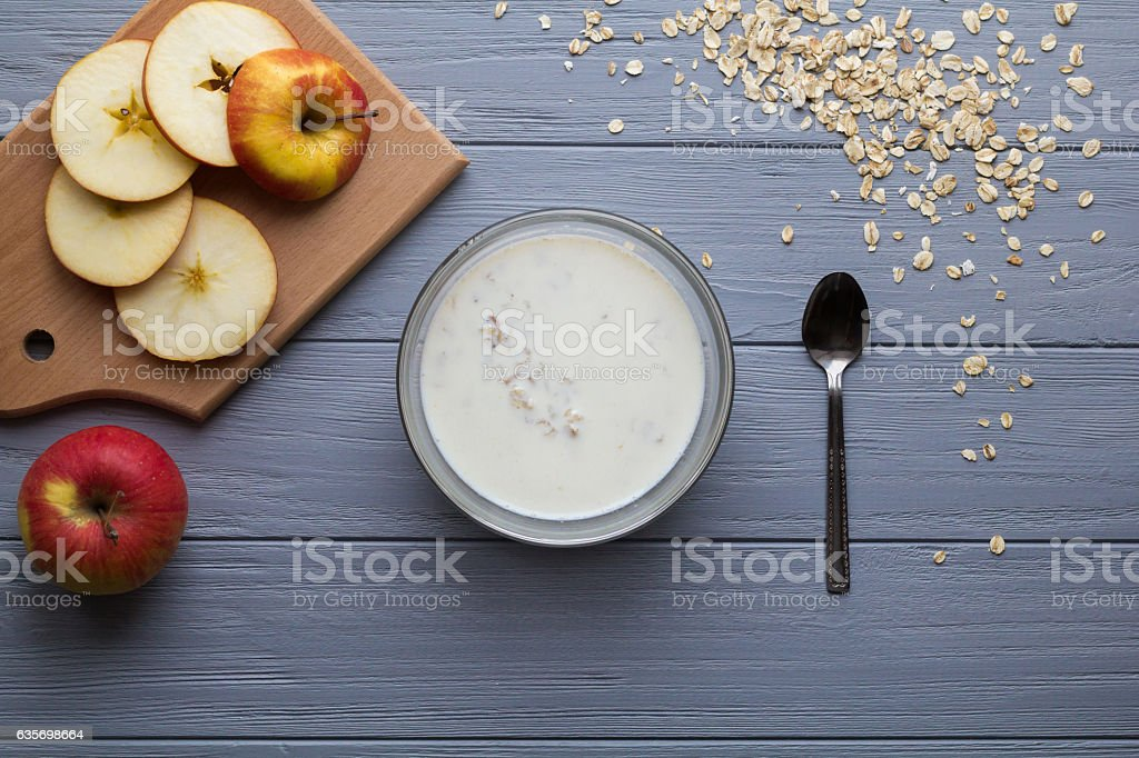 Oatmeal for breakfast royalty-free stock photo
