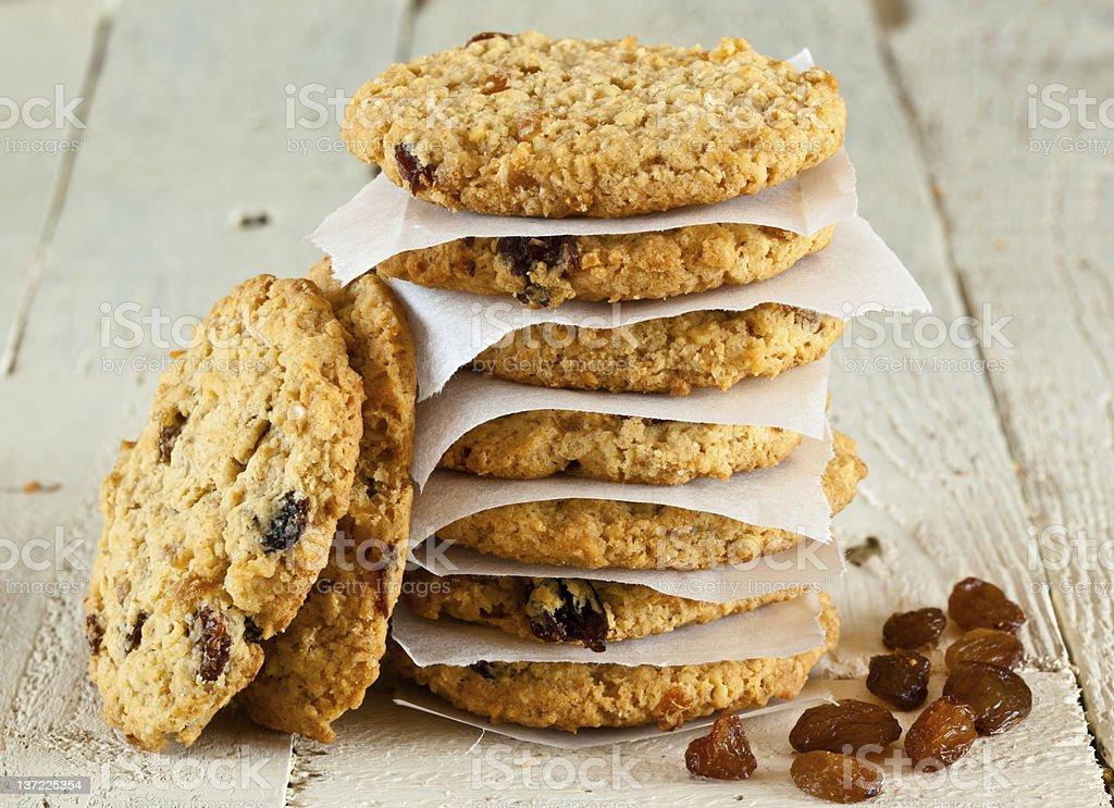 Oatmeal Fruit cookies stock photo