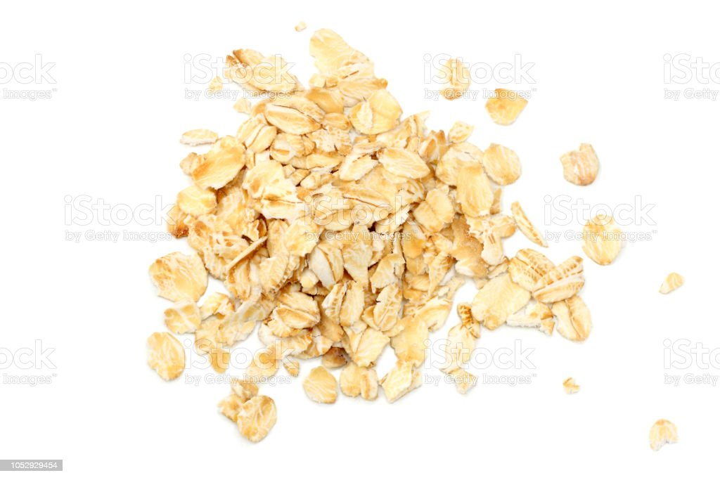 oatmeal isolated on white background. top view - Royalty-free Acima Foto de stock