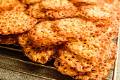 istock Oatmeal lace cookies 1066459414