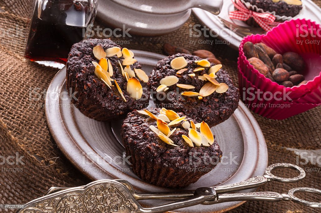 oatmeal of muffin stock photo