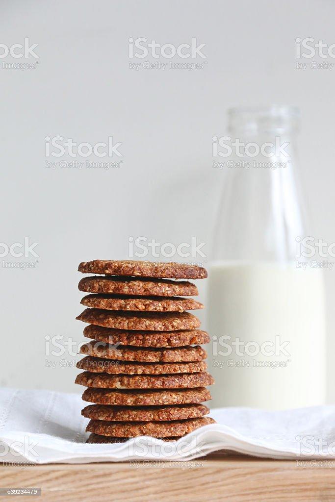 Galletas de avena mantequilla de maní foto de stock libre de derechos