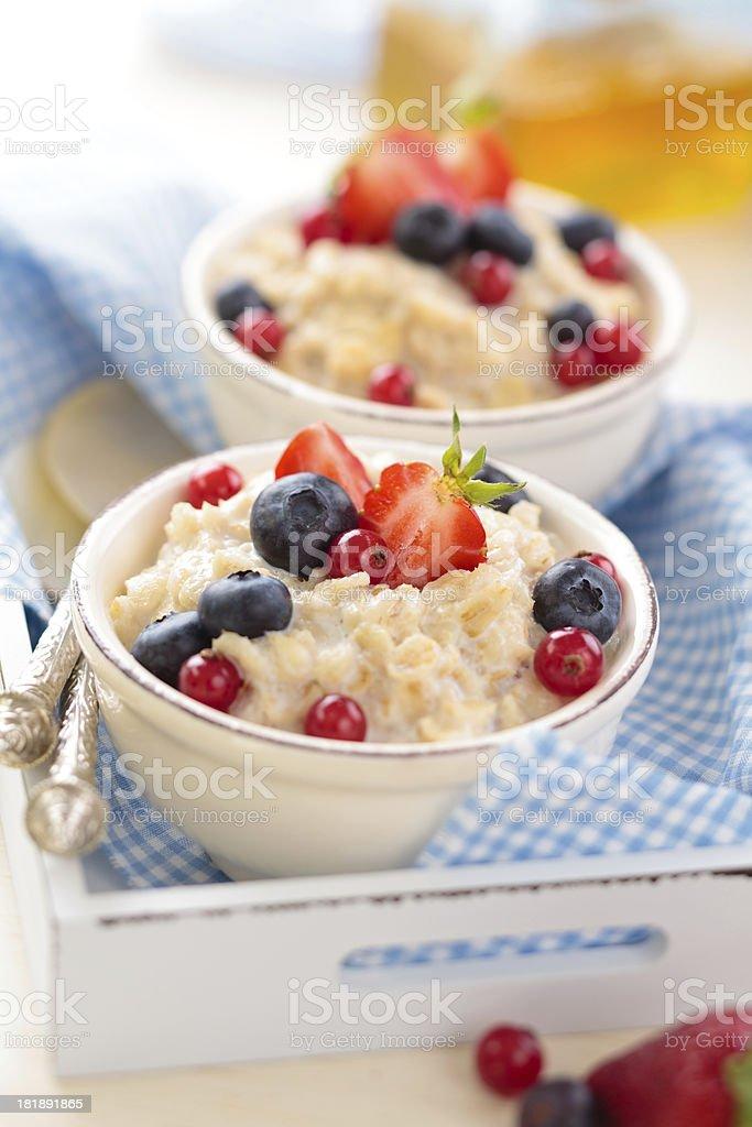 Oatmeal. royalty-free stock photo