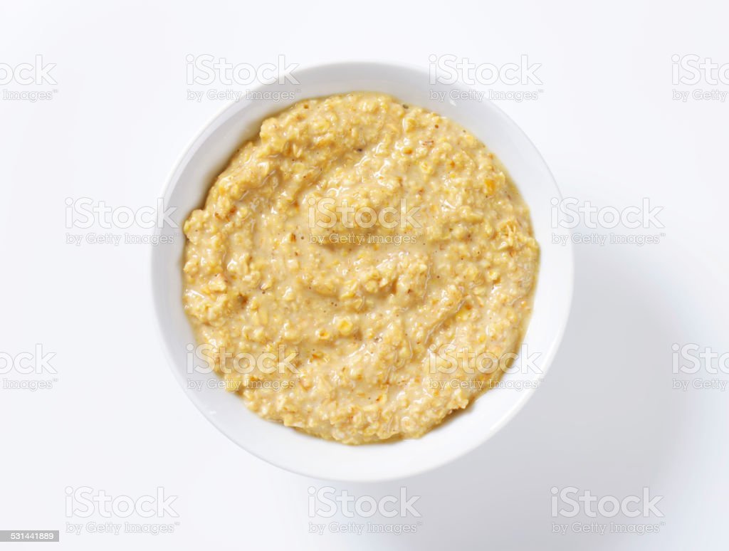 Oatmeal porridge stock photo