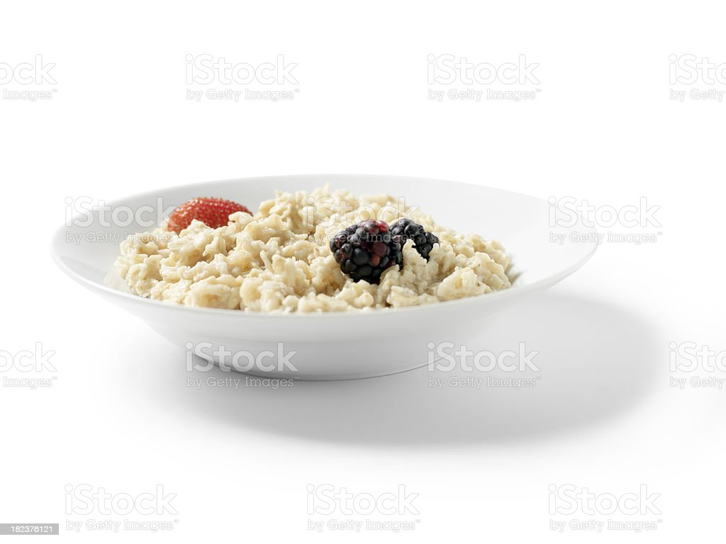 Oatmeal Porridge with Fruit royalty-free stock photo
