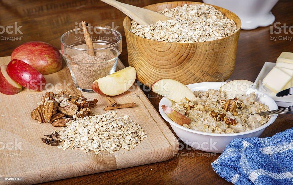 Oatmeal Preparation royalty-free stock photo