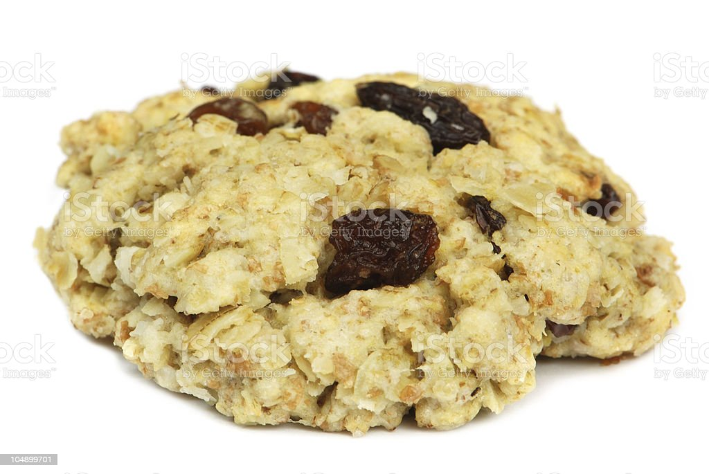 Oatmeal raisin cookie stock photo