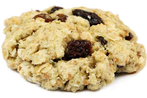 oatmeal raisin cookie - haferflocken rosinen stock-fotos und bilder