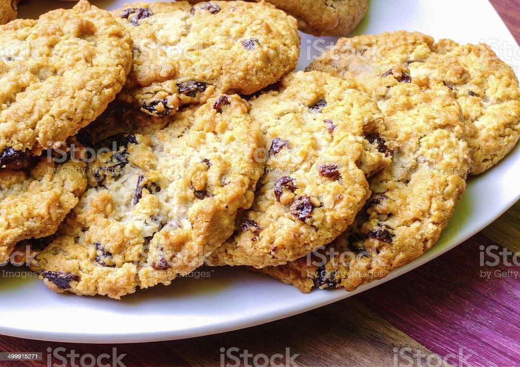 Oatmeal Raisin Cookies stock photo