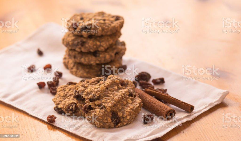 oatmeal raisin stock photo