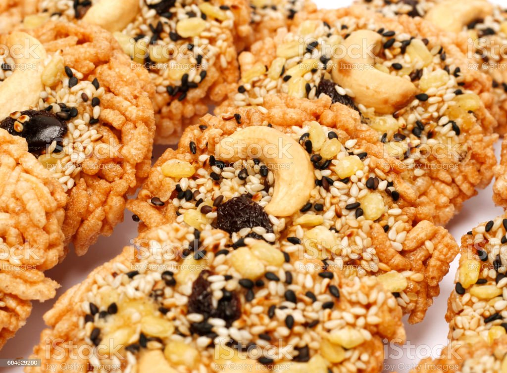 Oatmeal Thai cookies royalty-free stock photo