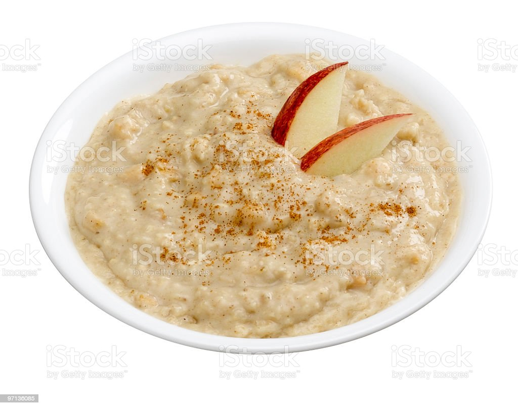 Oatmeal with Apples royalty-free stock photo
