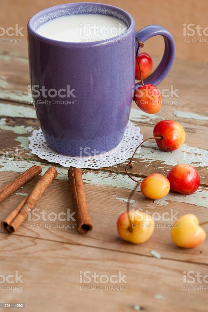 Oatmeal with blueberries healthy breakfast stock photo