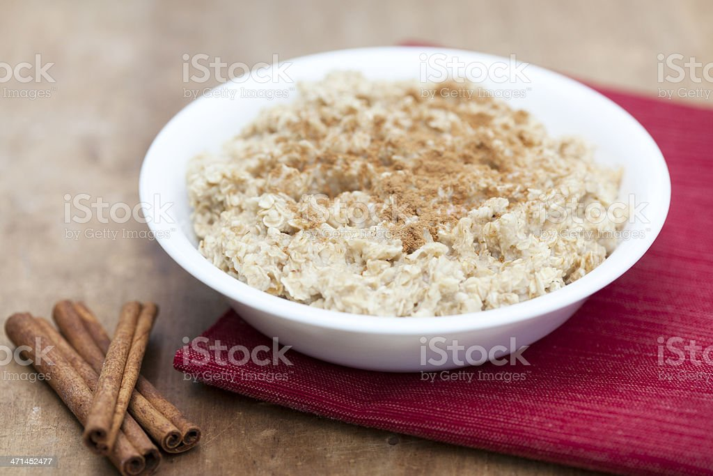 Oatmeal with Cinnamon and Sugar stock photo