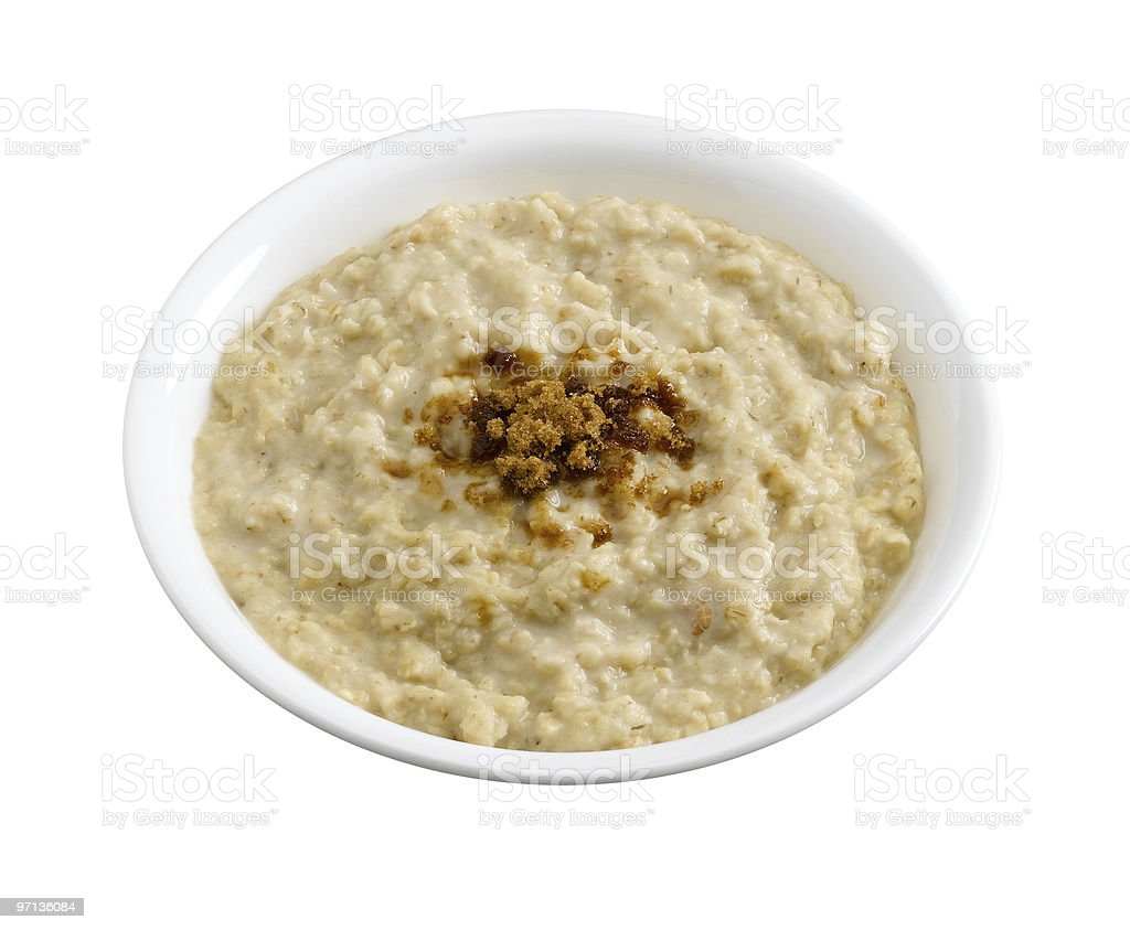 Oatmeal with Maple Brown Sugar royalty-free stock photo