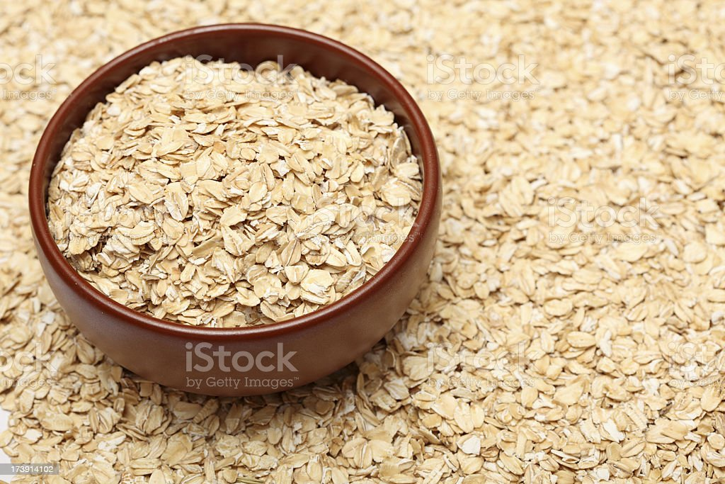Oats in bowl royalty-free stock photo