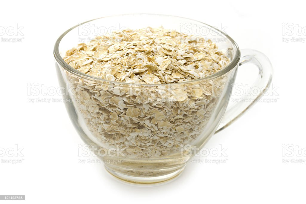 Oats in cup royalty-free stock photo