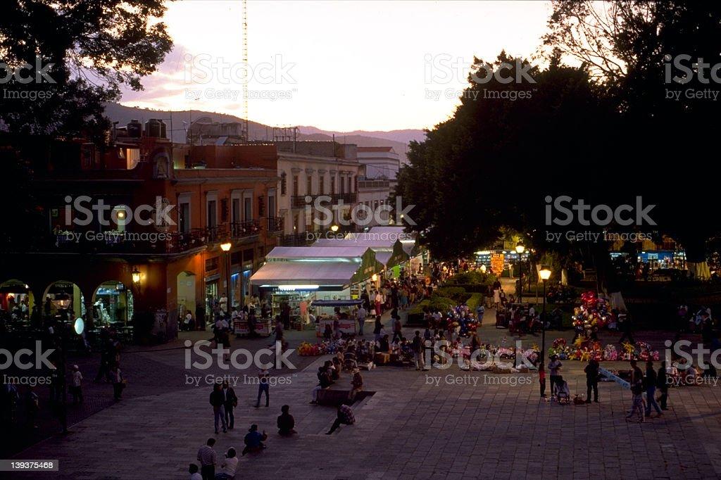 Oaxaca Sunset stock photo