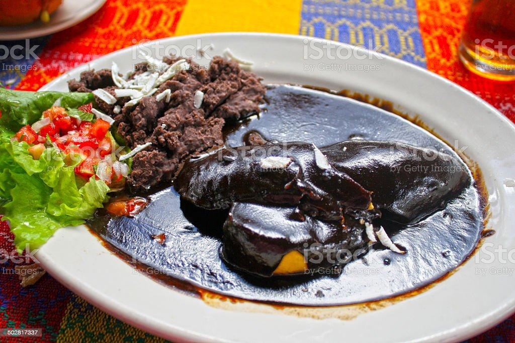 Oaxacan Chicken Mole stock photo