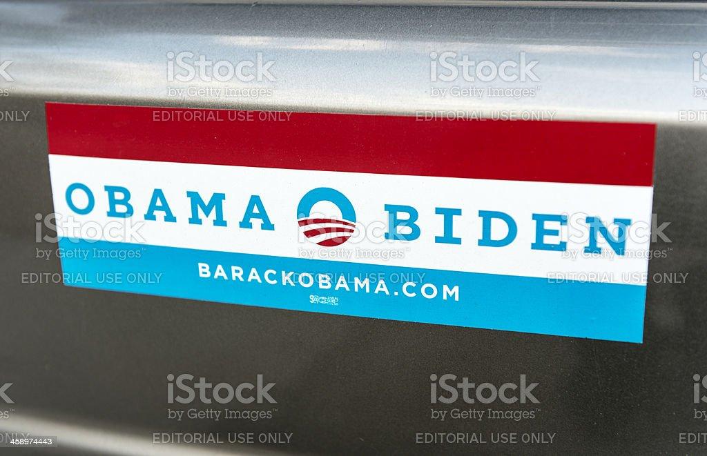 Obama Bumper Sticker. stock photo