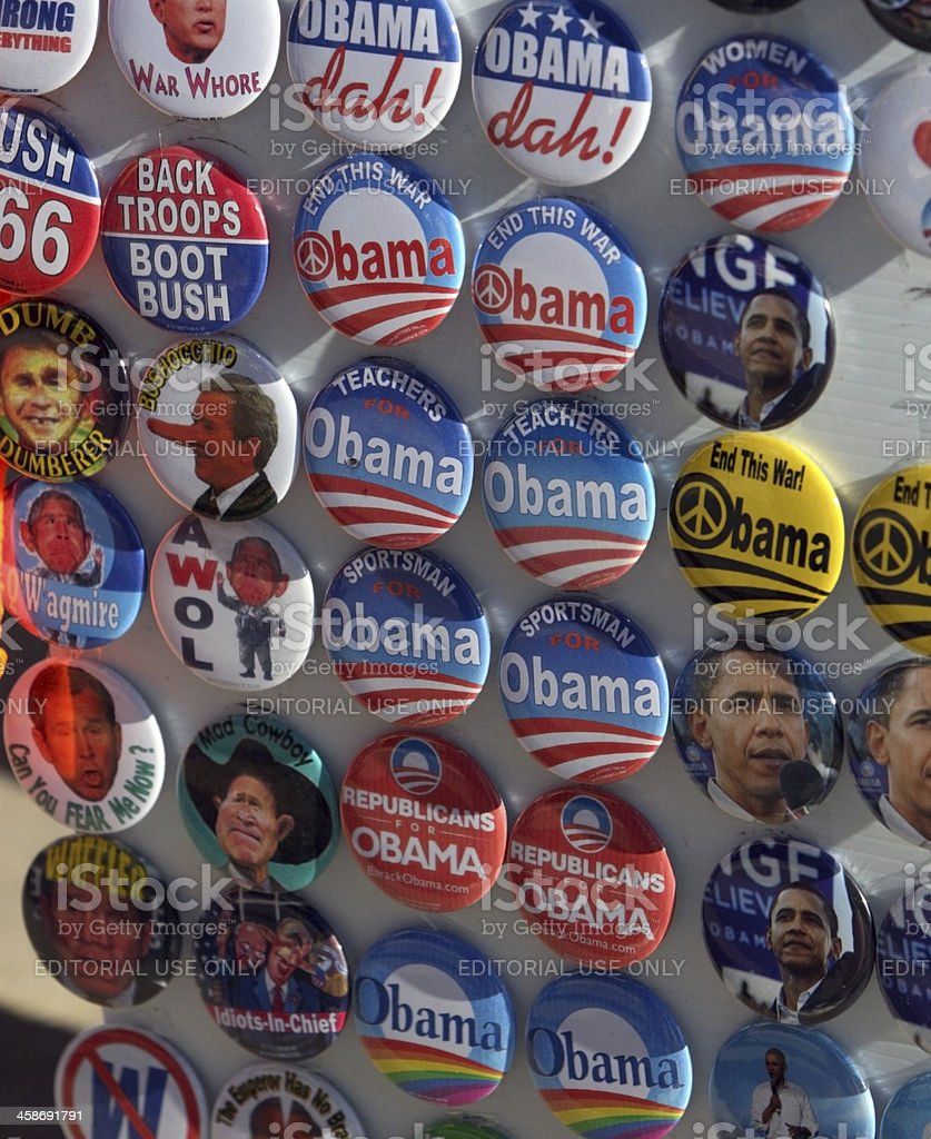 Obama Political Buttons stock photo