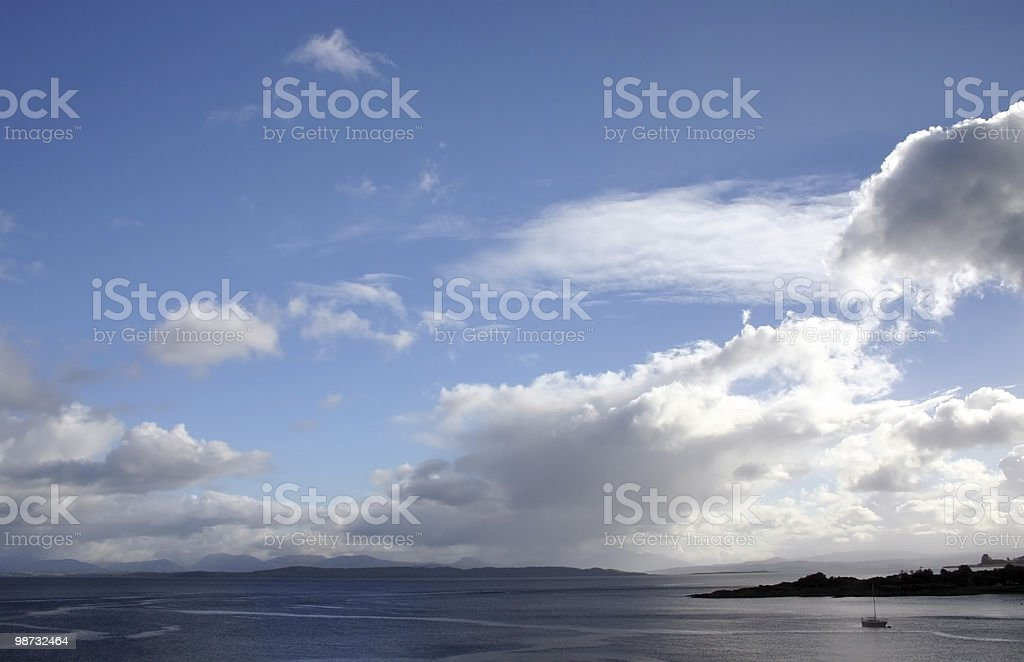 Oban Harbour royalty-free stock photo