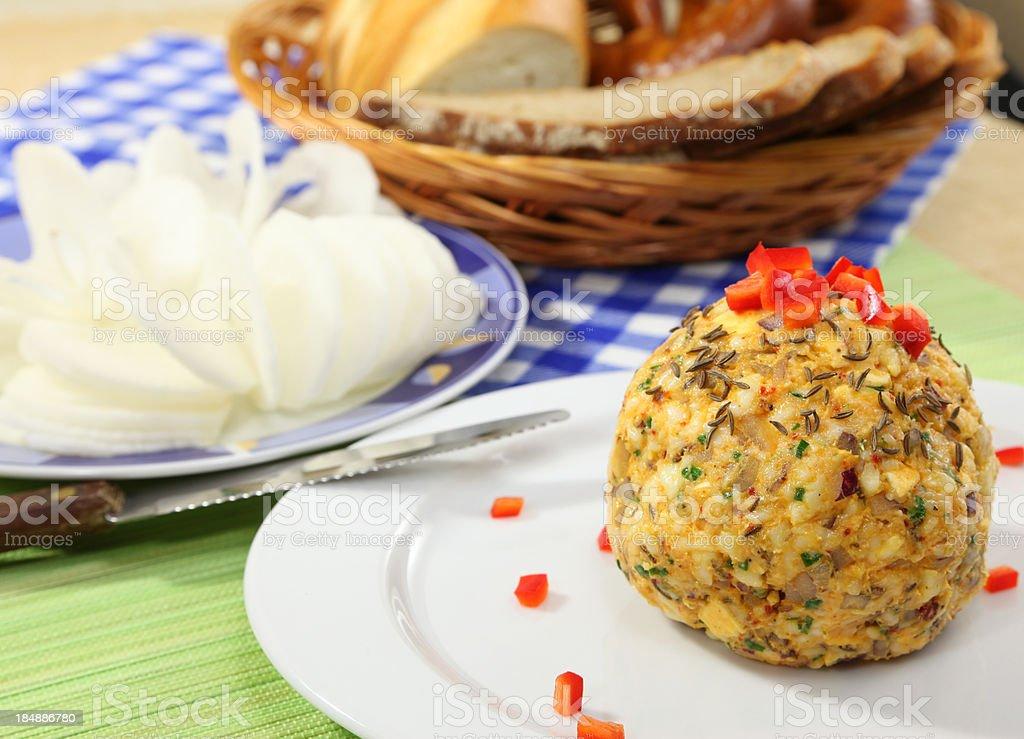 Obatzda cheese ball stock photo