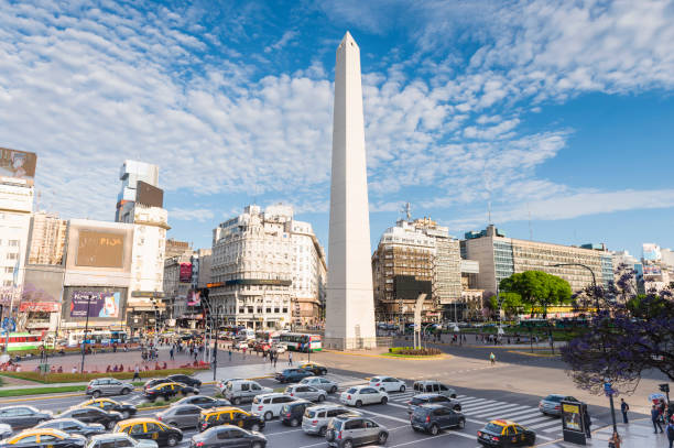 Obelisco of Buenos Aires stock photo