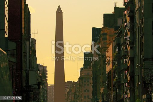 Obelisk in 9 de Julio avenue, Buenos Aires, capital of Argentina – South America