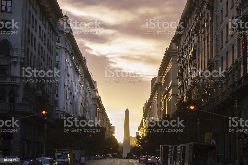 Obelisk of Buenos Aires stock photo