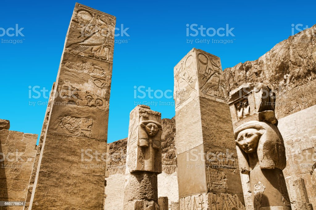 Obelisk of Queen Hapshetsut in Karnak, Egypt royalty-free stock photo