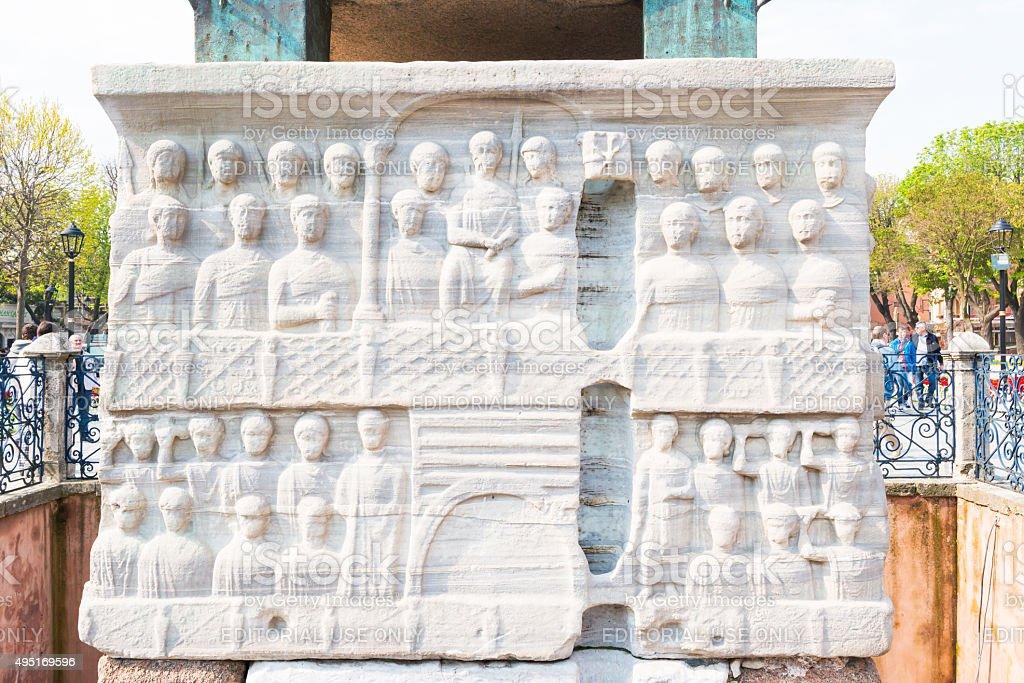 Obelisk of Theodosius (Egyptian Obelisk) at Istanbul, Turkey stock photo